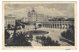 1904 - FOGGIA PIAZZA CAVOUR E VIALE XXIV MAGGIO ANIMATA 1942 - Foggia