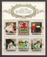 Penrhyn 1982 Mi Block 38 MNH BRITISH ROYAL FAMILY - Royalties, Royals