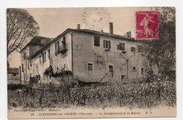- CPA AUBETERRE-SUR-DRONNE (16) - La Gendarmerie Et La Mairie 1934 - Photo Delboy N° 20 - - Francia