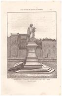 1880 - Gravure Sur Bois - Angers (Maine-et-Loire) - Le Monument David - FRANCO DE PORT - Estampas & Grabados