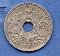 France  -  25 Centimes 1936  --  état TTB - F. 25 Centimes