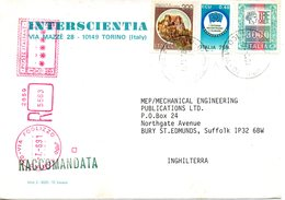 ITALIE. N°1907 De 1991 Sur Enveloppe Ayant Circulé. Drapeau Européen. - Buste