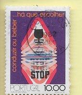 TIMBRES - STAMPS - FRANCOBOLLI - SELLOS - PORTUGAL - 1982 - CAMPAGNE CONTRE L'ALCOOLISME SUR LA ROUTE - TIMBRE OBLITÉRÉ - 1910-... République