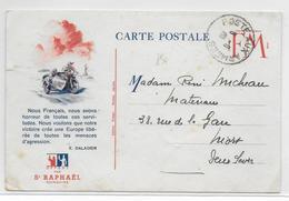 1940 - CARTE FM ILLUSTREE PUB - PROPAGANDE DALADIER ! - MOTOS - WW II