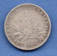 France  -  1 Franc 1901  --  état TB - H. 1 Franco
