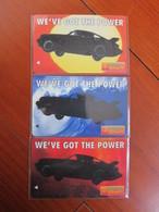 GPT Phonecard,1SSLA,B,C Formula Shell, Mint,set Of 3 - Singapour