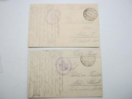 BINARVILLE , 2  Card Postale Militaire  Allemagne - Guerre De 1914-18