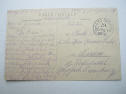 COUCY ,   Card Postale Militaire  Allemagne - Marcofilie (Brieven)