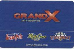 Carte De Casino : GRAND X : Casino Grand Prix - Multi Game - Casino Videomat : Tallinn Estonie - Cartes De Casino