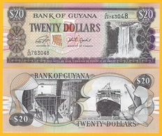 Guyana 20 Dollars P-30 ND (1996-2018) UNC Banknote - Guyana