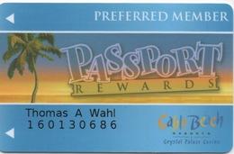 Carte De Casino : Cable Beach Crystal Palace Casino : Preferred Member : Bahamas - Cartes De Casino