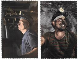 Vive Sainte Barbe - Lot De 2 Cp Très Bon état - Mineurs - Ed. Photochrom Glacée 1885 - Mines