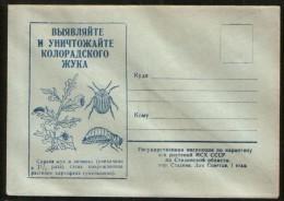 Russia USSR 1950 Cover Fauna, Destroy The Colorado Potato Beetle ! Stalino (Donetsk) - Sonstige