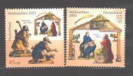 Germany 2003 MNH Christmas 2 V. - [7] République Fédérale