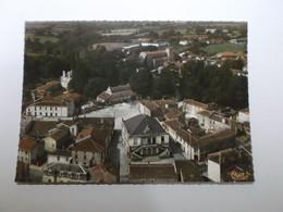 Vue Panoramique Aerienne Le Centre Du Bourg - La Chaize Le Vicomte