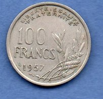 France  - 100 Francs  1957 B   --  état TTB - N. 100 Franchi