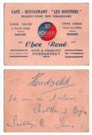 Carte De Visite 010, Marne Connantray, Café-Restaurant Les Routiers Chez René - Visitenkarten