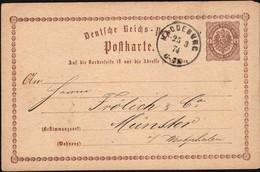 Germany 1873 - Deutsches Reich Post, 2 Kr. Ganzsache (Mi. P 1) Postal Stationery, MAGDEBURG 25.3.1874 - Münster. - Enteros Postales