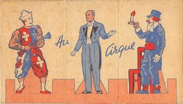 """AU CIRQUE"" 3 Cartons Publicitaires PHOSCAO En 3 Volets Chacun  En Bon état .3 Scans Rectos+1 Verso - Publicités"