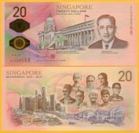 Singapore 20 Dollars P-new 2019 Bicentennial Commemorative UNC Polymer Banknote (without Folder) - Singapur