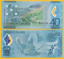 Solomon Islands 40 Dollars P-new 2018 Commemorative UNC Polymer Banknote - Isla Salomon