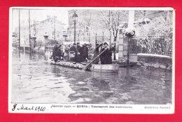 F-92-Rueil Malmaison-09A49  La Crue De Janvier 1910, Le Transport Des Habitants En Barque, Cpa - Rueil Malmaison