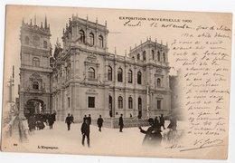 EXPOSITION UNIVERSELLE 1900 * ESPAGNE  * Animation * Carte N°90 Précurseur * Rédigée Le Jour De La Clôture - Expositions