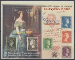 2000.113 CUBA 2000. Ed.4451. HF MNH EXPO MUNDIAL DE ESPAÑA SPAIN. 150 ANIV PRIMER SELLO ESPAÑOL. - Kuba