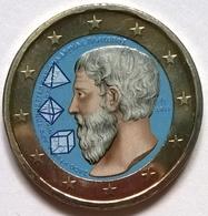 Grèce - 2 Euros Couleurs - 2013 - 2400 Ans Académie De Platon - Grecia