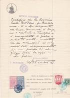 DOCUMENTO IN CARTA BOLLATA L. 4 -  COMUNE DI TREVIGLIO - ANAGRAFE (BERGAMO)  UFFICIO SANITARIO - 1940 - Historische Dokumente