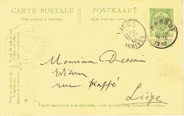 Carte Postale HANNUT 1910  - Cachet Privé COLLEGE DE LA SAINTE-CROIX - Hannut
