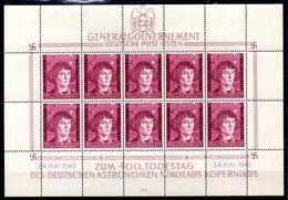 Ocupación Alemania Gobierno General Minipliego N ºMichel 104 ** Valor Catálogo 30.0€ - Ocupación 1938 – 45