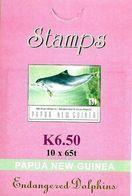 PAPUA NEW GUINEA DOLPHIN ANIMAL 65 TOEA BOOKLET OF 10 MINT 2003 SG? READ DESCRIPTION !! - Papúa Nueva Guinea