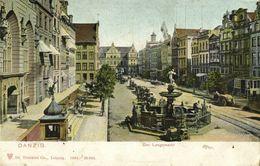 DANZIG GDAŃSK, Der Langemarkt, Długi Targ (1906) Polen AK - Danzig