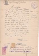 DOCUMENTO IN CARTA BOLLATA L.3 - COMUNE DI CARAVAGGIO (BERGAMO) - VISTO PER LA LEGALIZZAZIONE DELLA FIRMA - Historische Dokumente