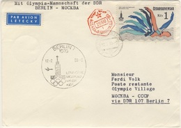 DDR - Olympiade Moskau 1980 Interflug 16 Direktflüge Und Zuleitungen - Olympic Games