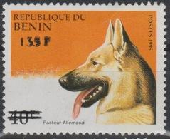 Bénin 2000 Mi. 1234 Pasteur Allemand Berger Schäferhund Chien Hund Dog Faune Fauna Surchargé Overprint MNH** - Bénin – Dahomey (1960-...)