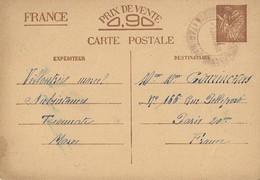 Entier Postal 90c Iris Vaguemestre D'Etapes Taounate Maroc, Document Peu Courant - Storia Postale
