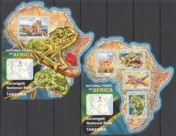 ST260 2016 SIERRA LEONE WILD ANIMALS NATIONAL PARK SERENGETI TANZANIA KB+BL MNH - Sellos