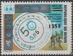 Bénin 2000 Mi. 1250 50 Ans SOS Villages D'enfants Kinderdorf Children Protection Surchargé Overprint MNH** - Bénin – Dahomey (1960-...)