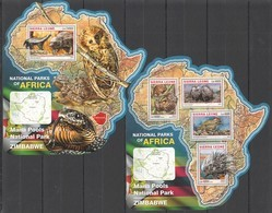 ST268 2016 SIERRA LEONE WILD ANIMALS NATIONAL PARK MANA POOLS KB+BL MNH - Sellos