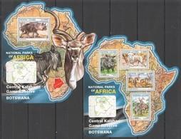 ST275 2016 SIERRA LEONE WILD ANIMALS NATIONAL PARK CENTRAL KALAHARI KB+BL MNH - Sellos