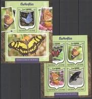 ST284 2016 SIERRA LEONE FAUNA & FLORA OF THE WORLD BUTTERFLIES KB+BL MNH - Schmetterlinge