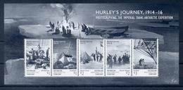 AUSTRALIAN ANTARCTIC TERRITORY * 2016 * M/Sheet (5 Stamps) * MNH** Hurley's Journey - Mi.No BL18 - Briefmarken