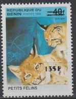 Bénin 2000 Mi. 1237 Petits Félins Lynx Wildkatze Faune Fauna Surchargé Overprint MNH** - Bénin – Dahomey (1960-...)