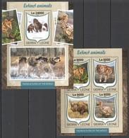 ST288 2016 SIERRA LEONE FAUNA & FLORA OF THE WORLD EXTINCT ANIMALS KB+BL MNH - Stamps