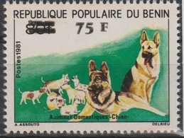 Bénin 1983 Mi. 311 Berger Allemand Rex Schäferhund Chien Hund Dog Faune Fauna Surchargé Overprint MNH** - Bénin – Dahomey (1960-...)
