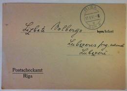 1942 LATVIJA Pasta Krajgramatina - Latvia