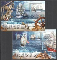 ST311 2016 SIERRA LEONE MARINE LIFE TALL SHIPS KB+BL MNH - Barche