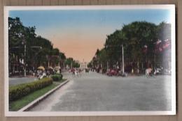 CPSM VIETNAM - SUD VIETNAM - SAIGON - Le Boulevard Charner - TB PLAN ANIMATION Bicyclettes Automobiles - Viêt-Nam